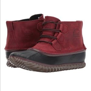 Sorel Out n About Duck Boots in Red